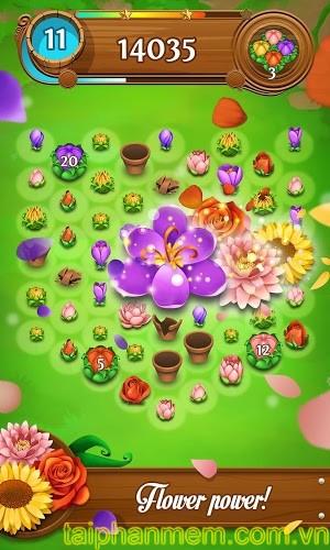 Blossom Blast Saga cho Android Game match 3 thú vị