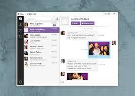 Giao diên Viber trên Mac
