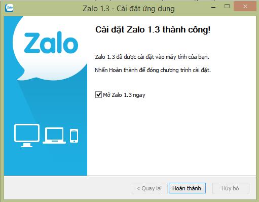 Cài đặt Zalo PC