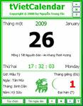 tVietCalendar 2015 1.1 - Ứng dụng lịch Việt trên Desktop