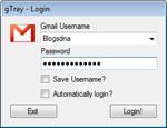 gTray Beta 1.0 - Ứng dụng kiểm tra hộp thư Gmail cho PC