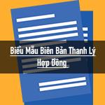 Mẫu biên bản thanh lý hợp đồng