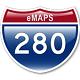 eMaps for Mac 3.4.3 - Tương tác với Google Maps trên Mac