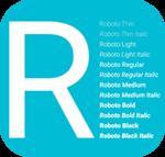 Google Fonts Roboto - Bộ Font chữ Google