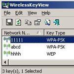 WirelessKeyView 1.71 - Khôi phục key mạng không dây lưu trong PC